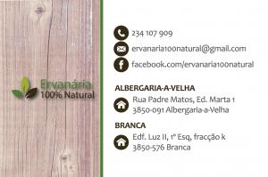 cartão de visita ervanária ervanária Ervanária 100% Natural | Design Gráfico imprimir cartao tras 300x199