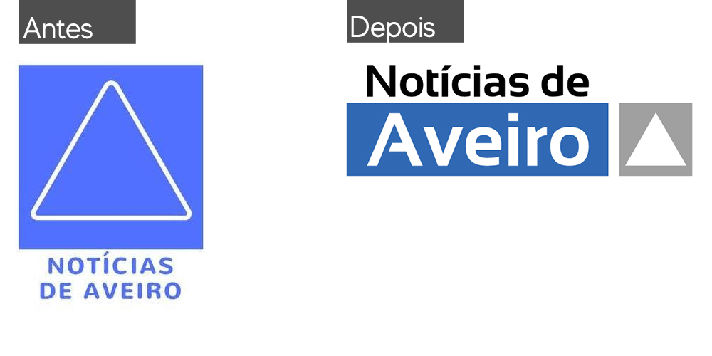 logotipo noticias de aveiro noticias de aveiro Notícias de Aveiro | Website | Logótipo antes e depois redesign de logo