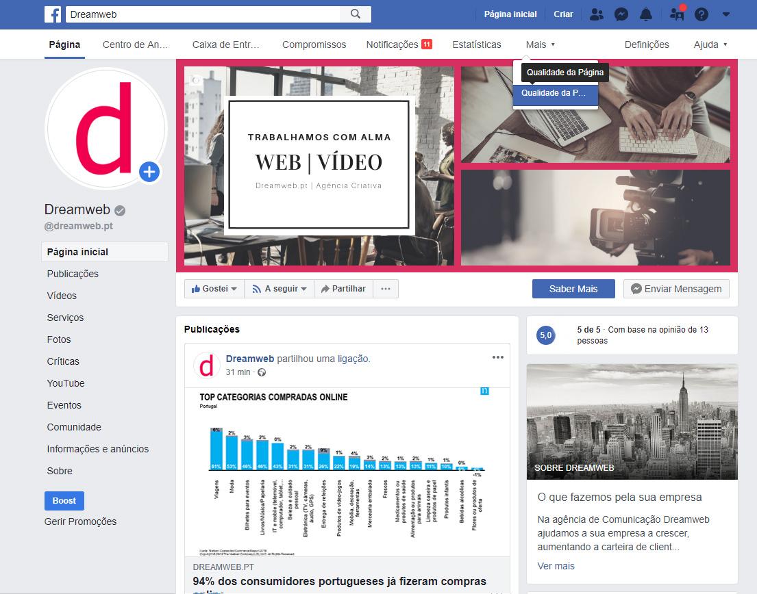 """qualidade-da-pagina-1 facebook Facebook implementa ferramenta que analisa a """"Qualidade da Página"""" qualidade da p  gina 1"""